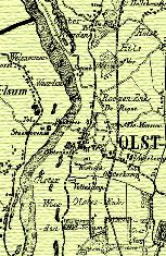 Het Veerhuys Olst oude kaart